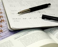 pen on notebooks