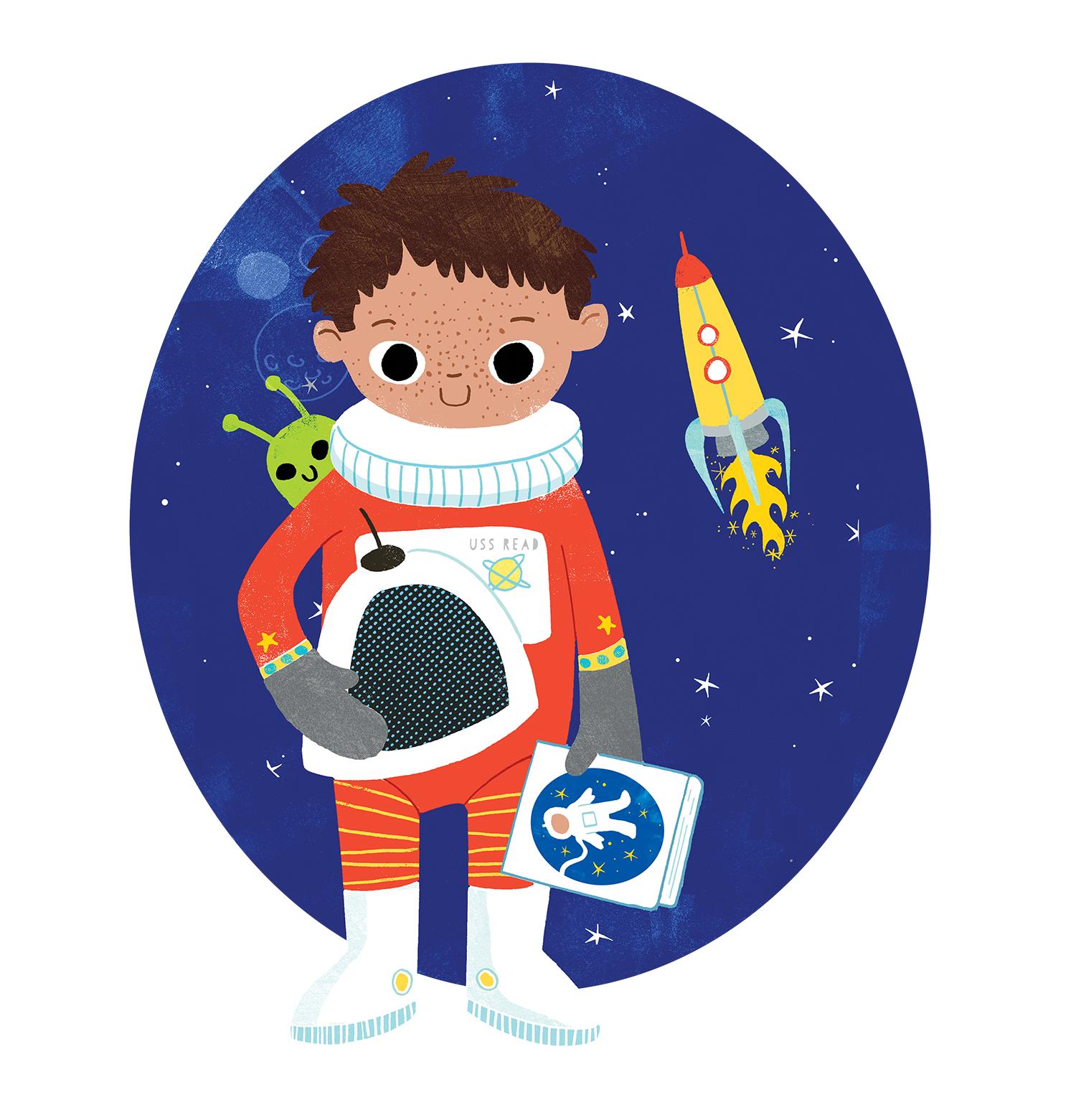 child in spacesuit
